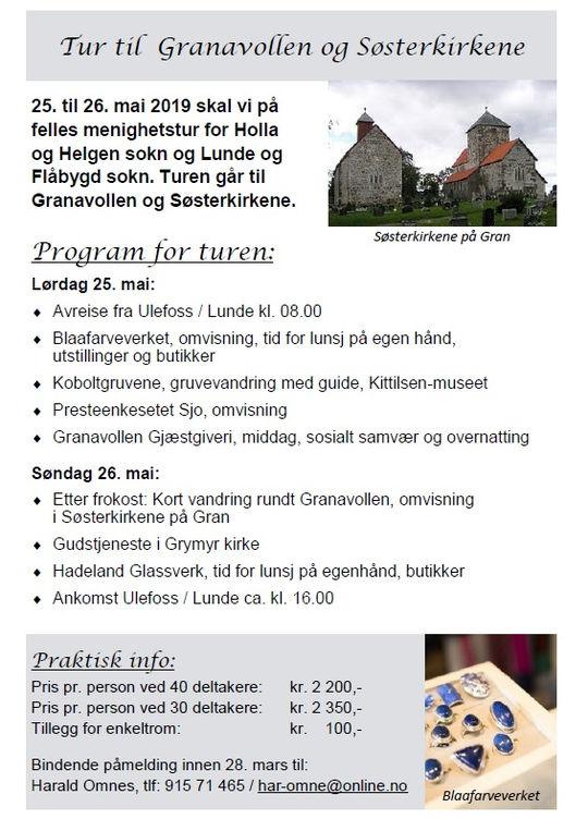 Turen til Granavollen og Søsterkirkene er avlyst