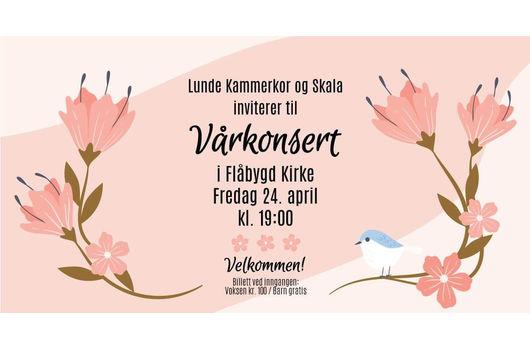 AVLYST: Vårkonsert i Flåbygd kirke